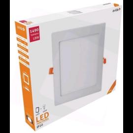Avide LED Beépíthető Négyzetes Mennyezeti Lámpa ALU 18W NW 4000K