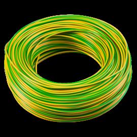 MCU (H07V-U) 2,5mm2 tömör rézvezeték zöld/sárga (100m)