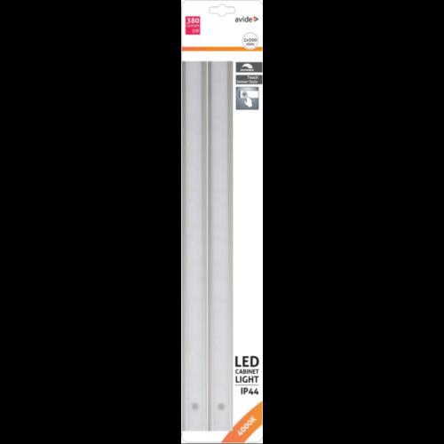 Avide LED Szalag Szekrény Lámpa 5W SMD2835 66LED 4000K IP44 2X50cm + Szenzor
