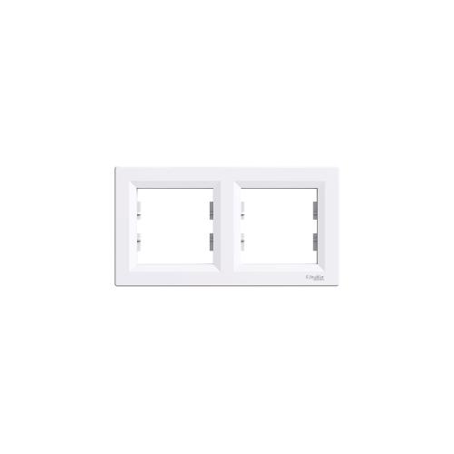 Schneider Electric ASFORA Kettes keret, vízszintes, fehér EPH5800221