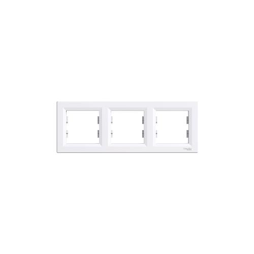 Schneider Electric ASFORA Hármas keret, vízszintes, fehér EPH5800321