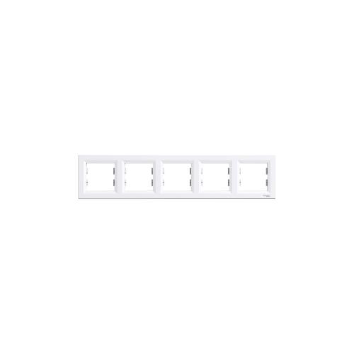 Schneider Electric ASFORA Ötös keret, vízszintes, fehér EPH5800521