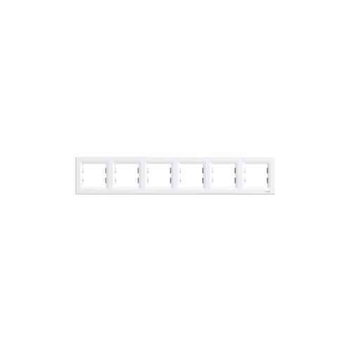 Schneider Electric ASFORA Hatos keret, vízszintes, fehér EPH5800621