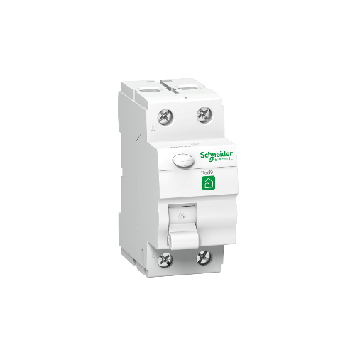 RESI9 áram-védőkapcsoló, AC osztály, 2P, 25A, 30mA R9R11225
