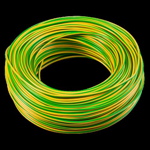 MCU (H07V-U) 1,5mm2 tömör rézvezeték zöld/sárga (100m)