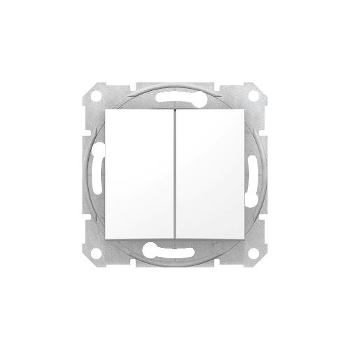 Schneider Electric Sedna Kettős váltókapcsoló fehér (106+6) SDN0600121