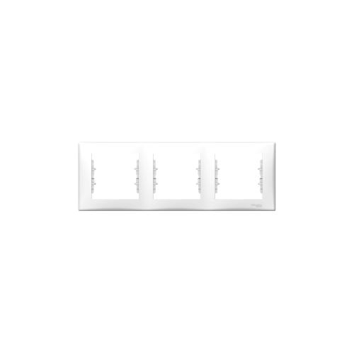 Schneider Electric Sedna Hármas keret, vízszintes fehér SDN5800521