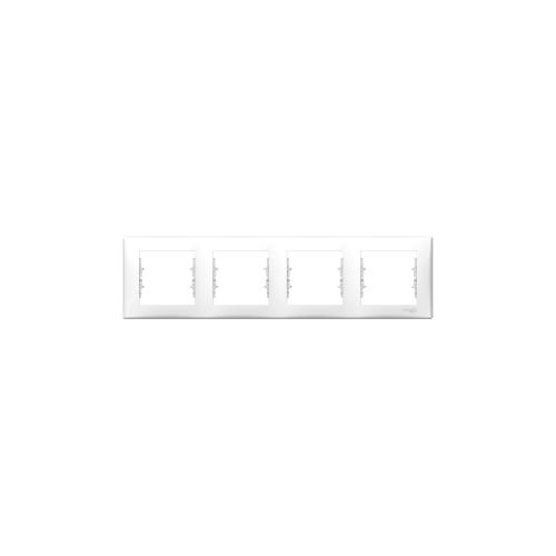 Schneider Electric Sedna Négyes keret, vízszintes fehér SDN5800721