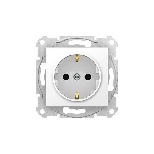 Schneider Electric Sedna 2P+F csatlakozóaljzat, (GYV) biztonsági zsalus fehér SDN3000121