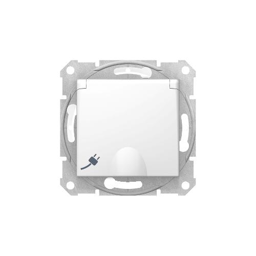 Schneider Electric Sedna 2P+F csatlakozóaljzat, (GYV) biztonsági zsalus, IP44 fehér SDN3100321