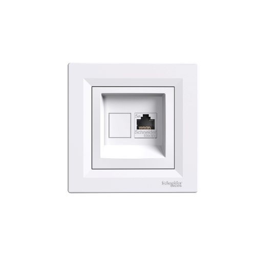 Schneider Electric ASFORA 1xRJ45 Cat5e UTP aljzat,kerettel fehér EPH4300121