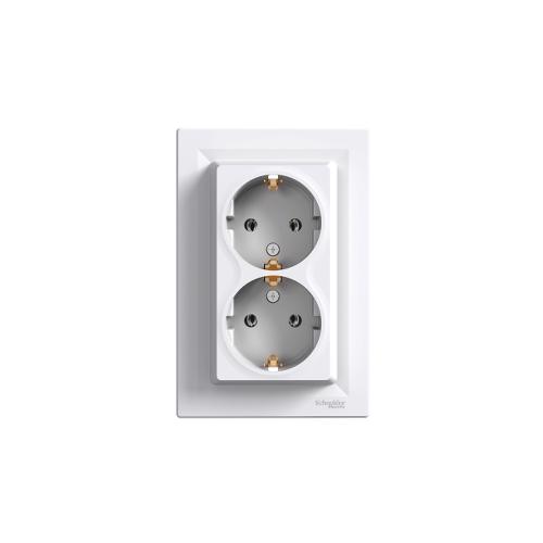 Schneider Electric ASFORA 2x2P+F kerettel, fehér EPH9900121