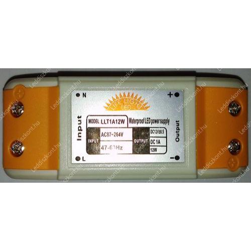 Led 12V 12W DC mini tápegység, 1A