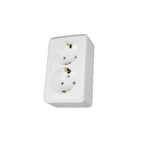 Schneider Electric PRIMA 162/162 2x2P+F csatlakozóaljzat, 16A,IP20 fehér WDE001048
