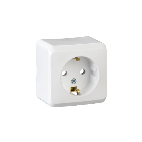 Schneider Electric PRIMA 162 2P+F csatlakozóaljzat, 16A,IP20 fehér WDE001080